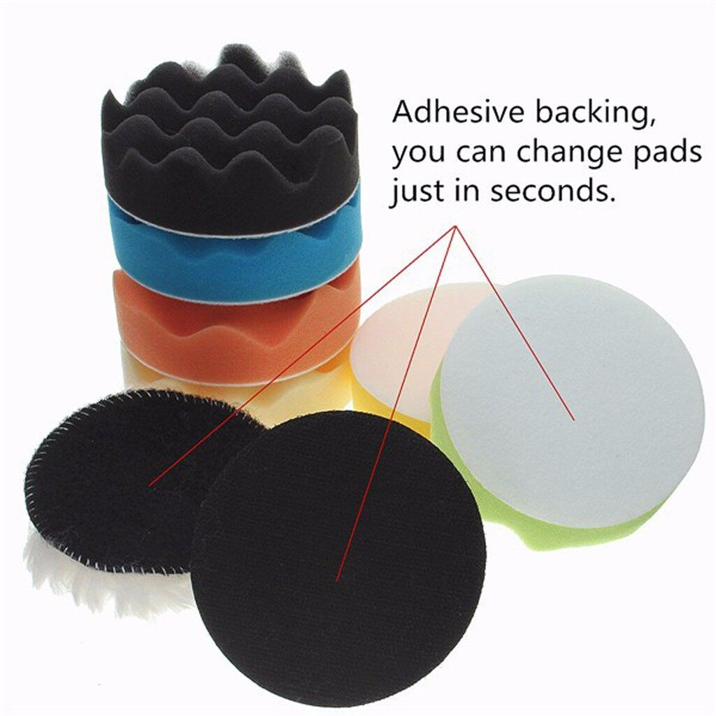 Wash & Wax - 8pc 5'' 125mm Sponge Polishing Waxing Buffing Pads SET Kit For Compound Auto Car - Car Care