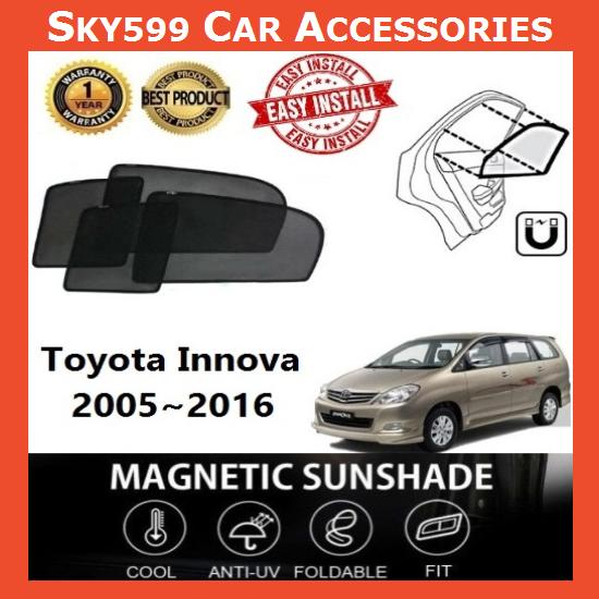 Toyota Innova 2005-2016 Magnetic Sunshade [6 PCS]
