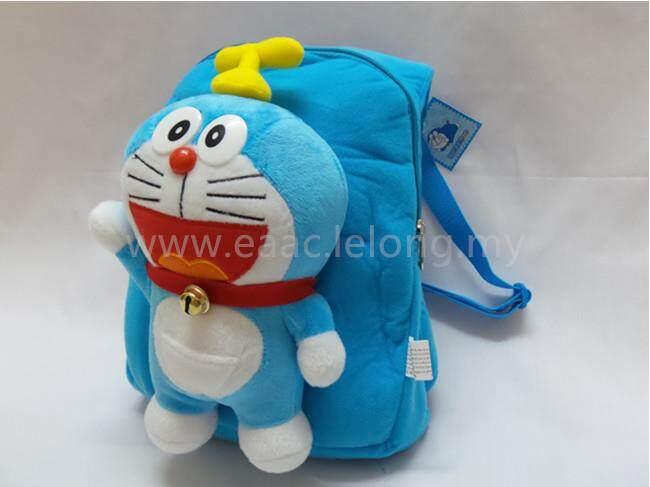 3D Doraemon Cute Cartoon Kindergarten Backpack School Shopping Shoulder Bag