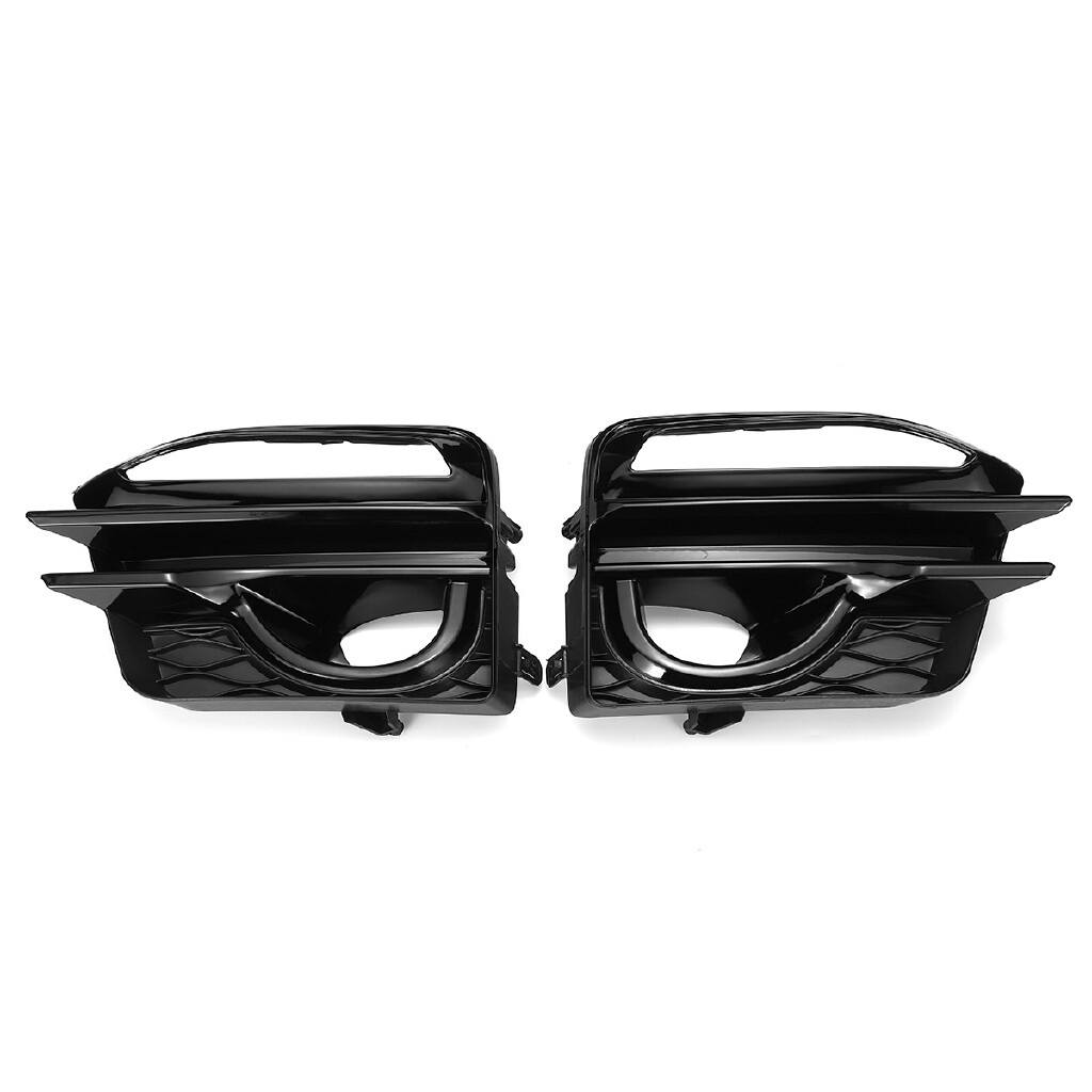 Engine Parts - For Infiniti Q50 Sport 2014-2017 Pair Fog Light Cover Grill Grille Gloss Black mhestore2009 - Car Replacement