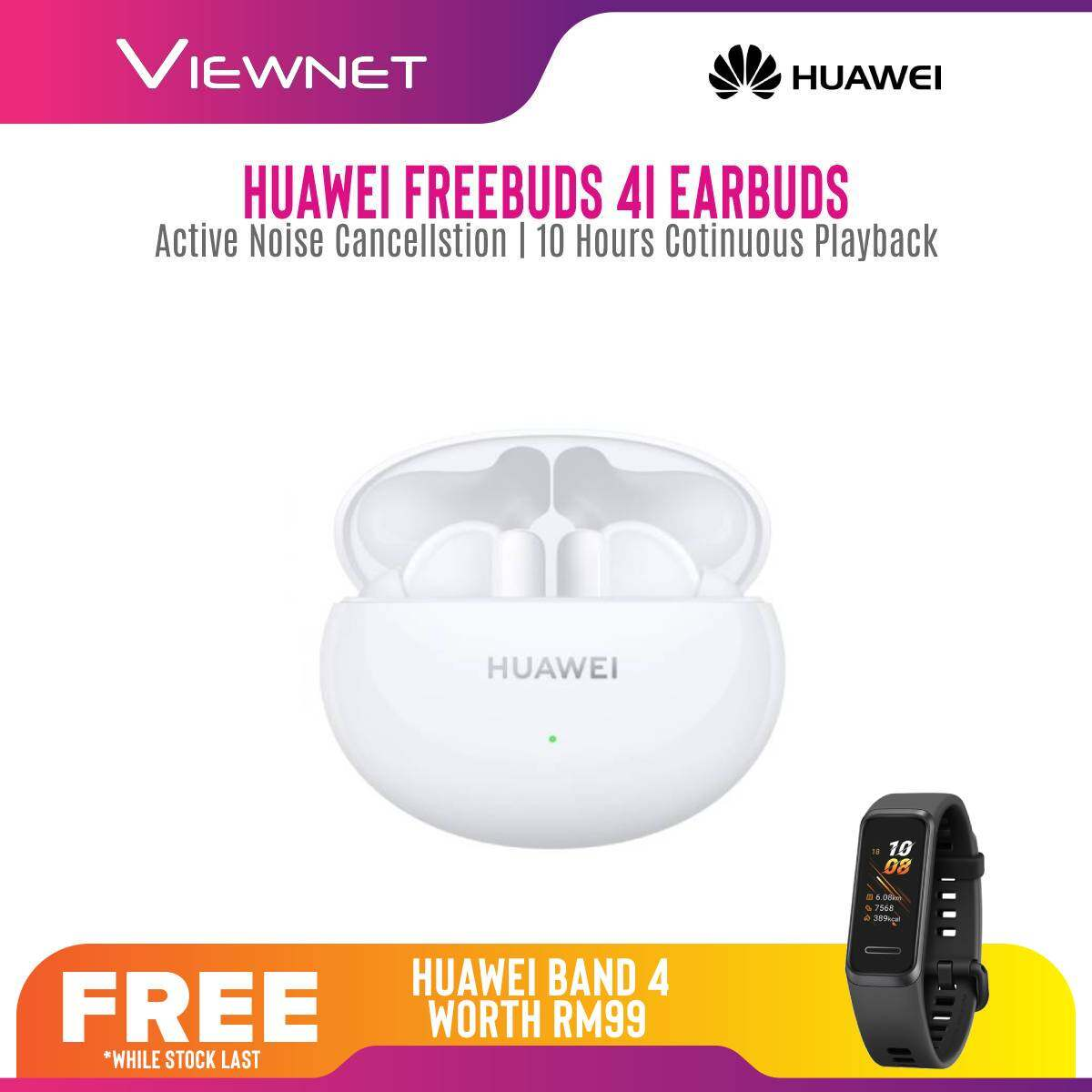 Huawei Freebuds 4I wireless Earbubs / Earphone with Active Noise Cancellation , 10 Hours Continuous Playback