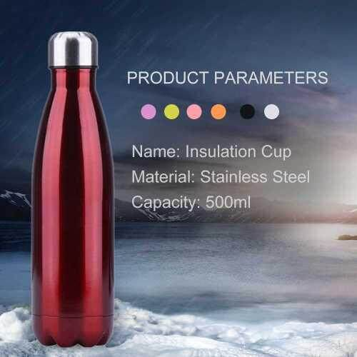 Water Bottle With Vacuum Insulated Stainless Steel (Red)