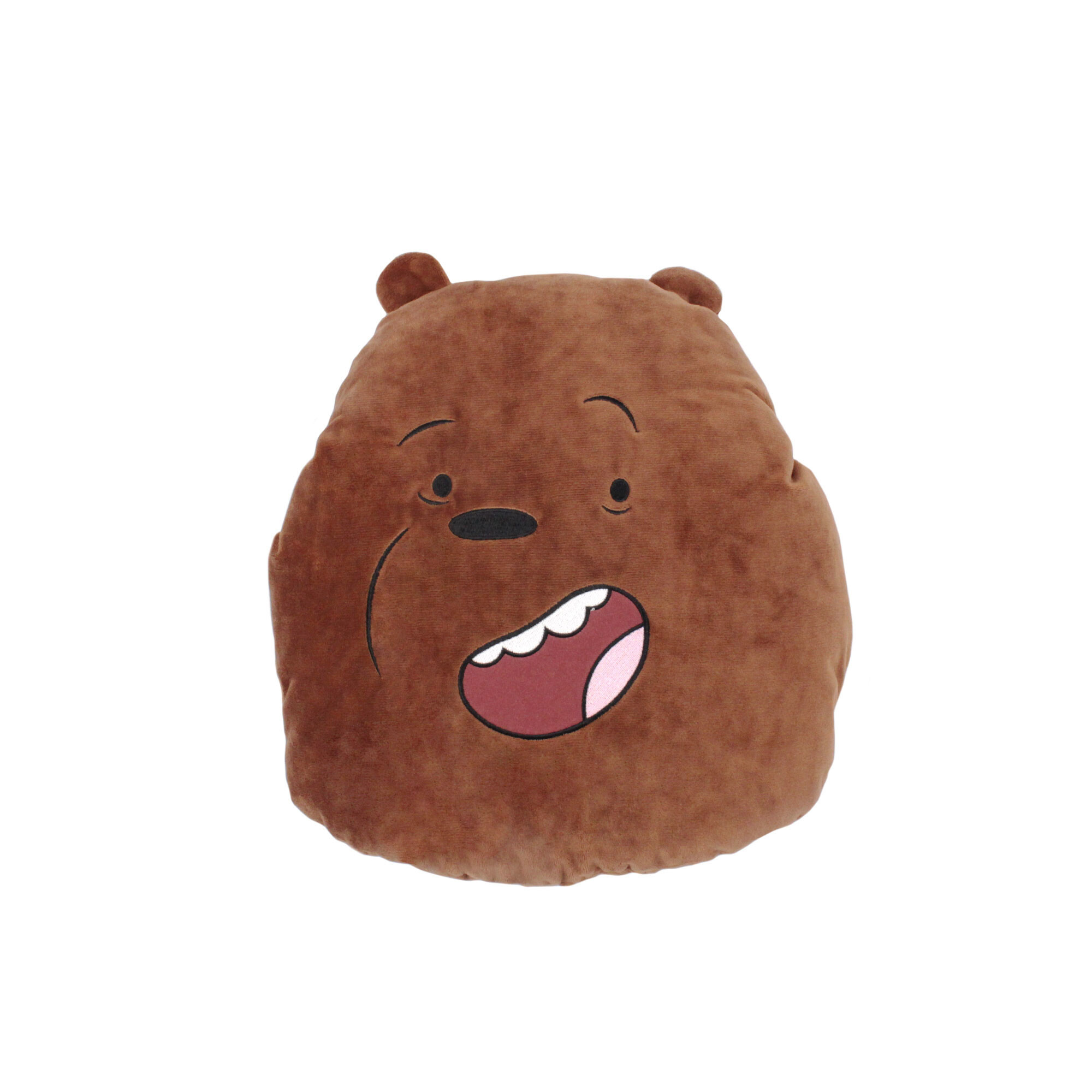 We Bare Bears Grizz Hand Warmer Pillow - Brown Colour