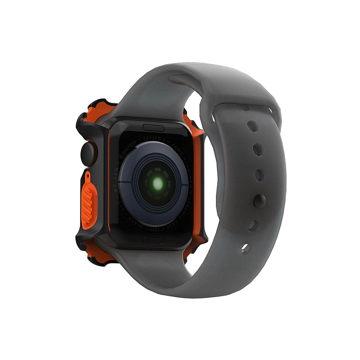 UAG Rugged Case Series Drop Protection Case for Apple Watch 44mm Series 4 Series 5 - Black/Orange