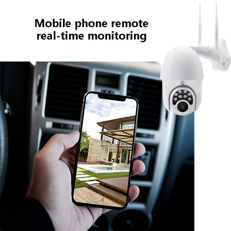 IP Security Cameras - 8 LED 6x Zoom Hd 1080P WiFi IP Camera Pixel Monitor Home Security - AU / UK