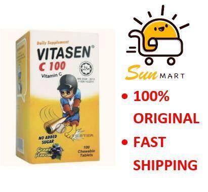 Vitasen C 100 Grape flavour 100 tablet