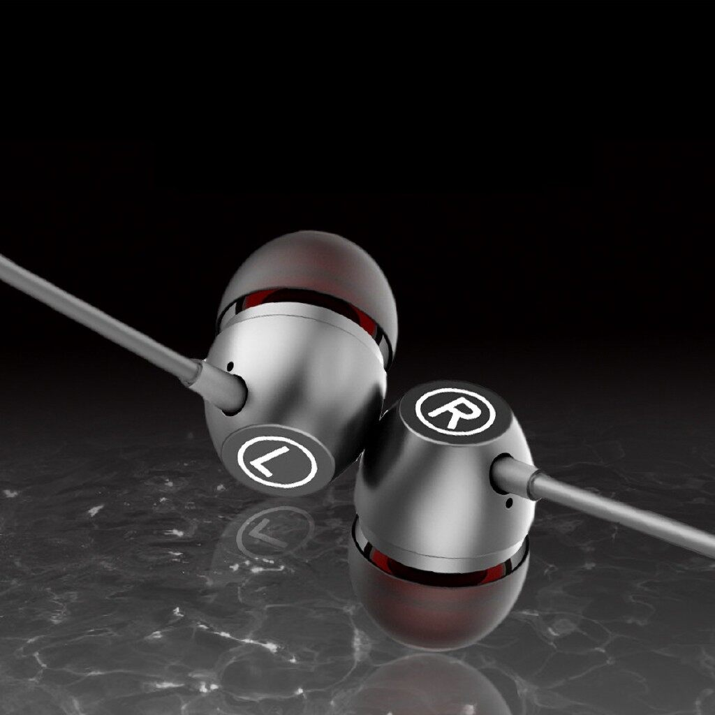 On-Ear Headphones - 3.5mm Line Control with microphone In Ear Earphones Wheat Bass-Stereo Ear Buds - GOLD / SILVER / GREY