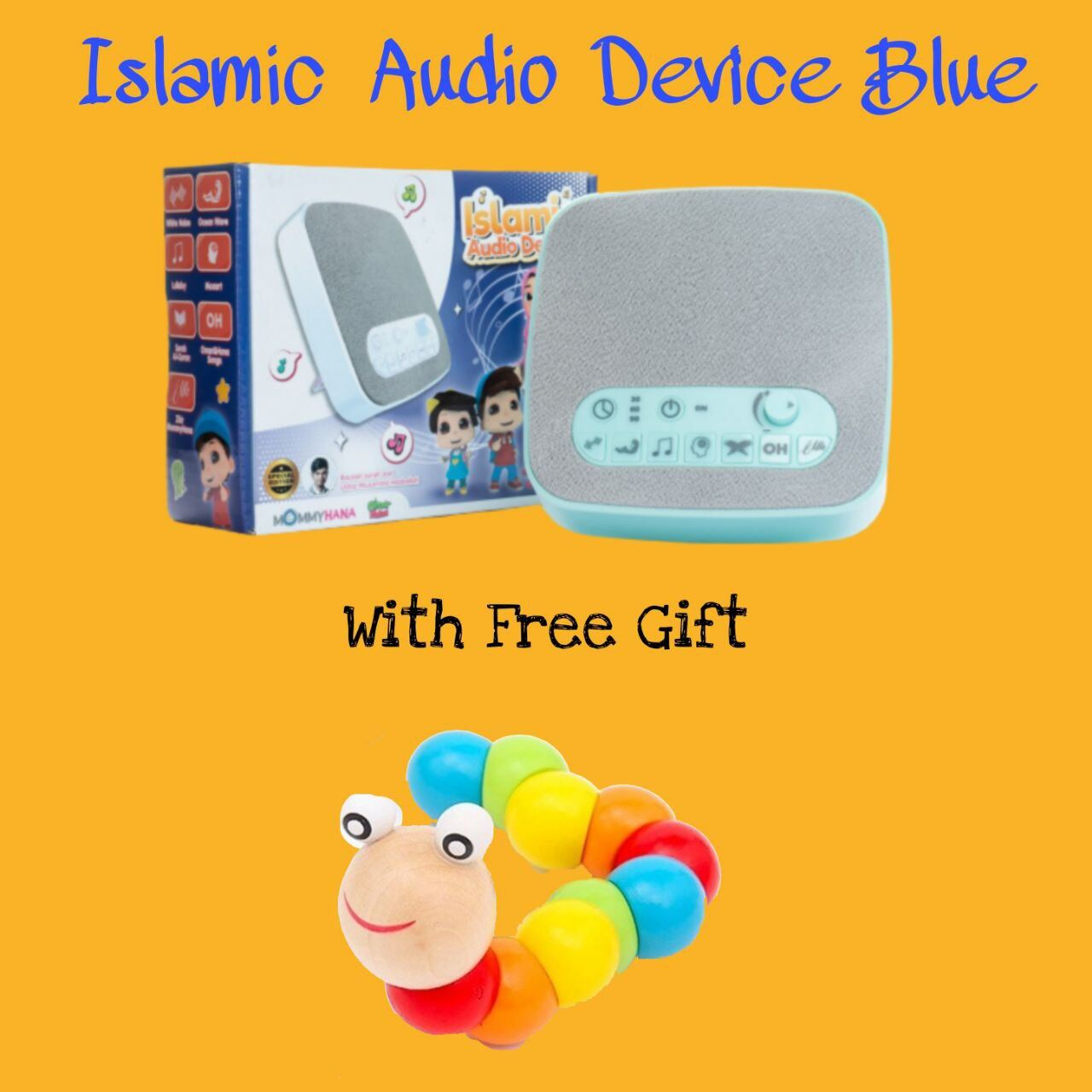 (READY STOCK) ISLAMIC AUDIO DEVICE MOMMYHANA X OMAR HANA (BLUE) (1)
