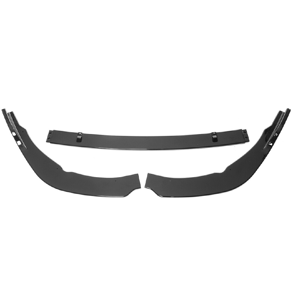 Automotive Tools & Equipment - 3 PIECE(s) Front Bumper Lip Cover Trim For Toyota Camry SE/XSE Gloss Black - Car Replacement Parts