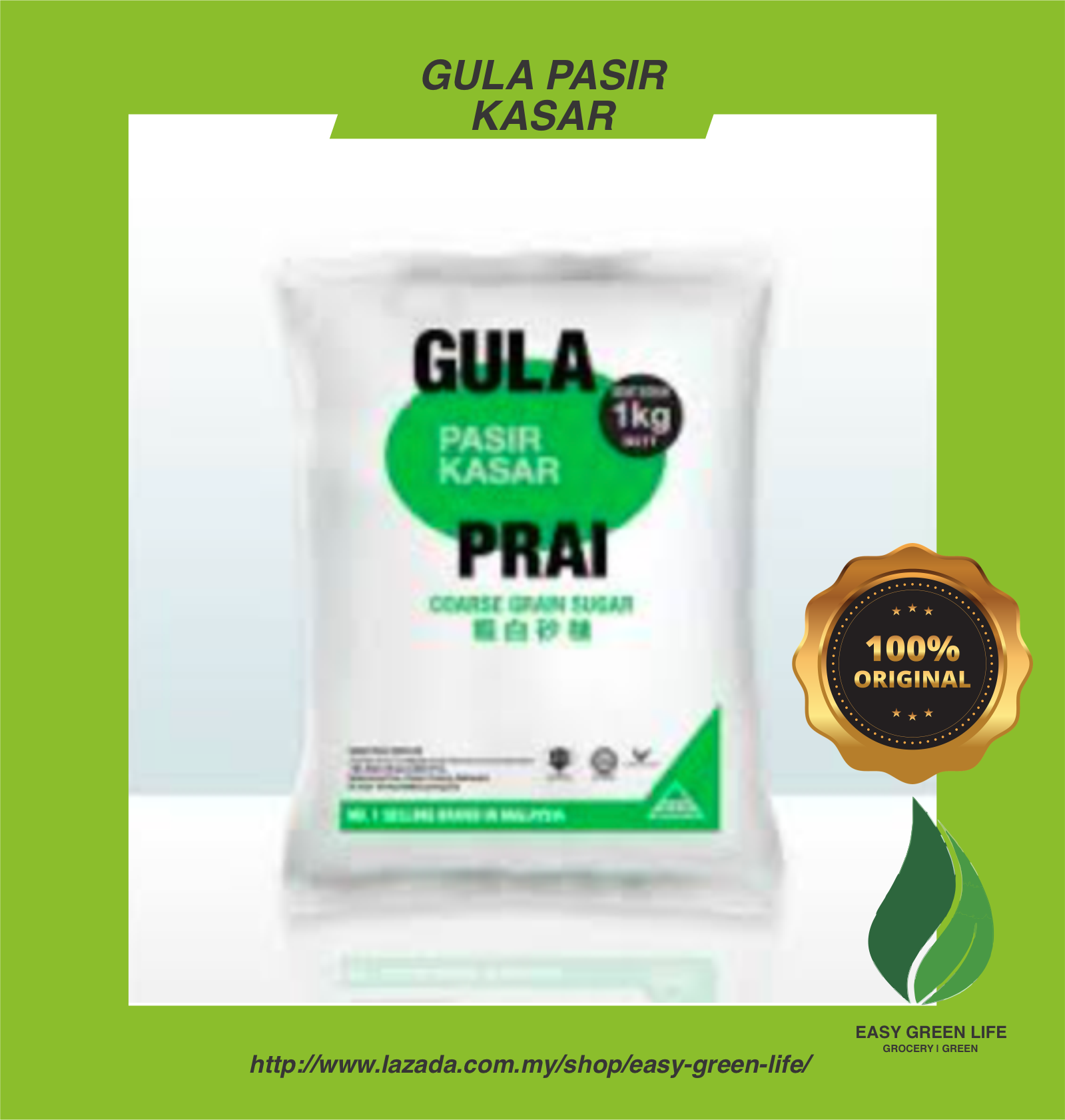 EGL Ready Stock Gula Kasar/Coarse Grain Sugar