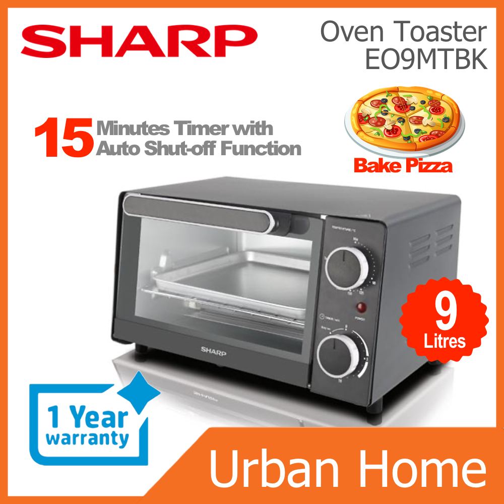 SHARP 9L Toster Oven Pembakar Roti (EO9MTBK/EO-9MT-BK)