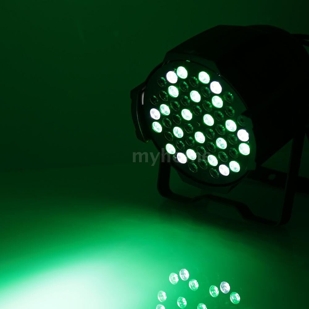 Lighting - 80W 54LED DMX512 Sound Activated Auto Running 8 Channels RGBW Color Changing PAR Wall Wash - Home & Living