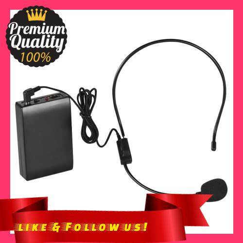 People\'s Choice Portable FM Wireless Microphone Headset System Voice Amplifier 1/4in Output Plug with Bodypack Transmitter Receiver for Teacher Speaker Yoga Instructor Presenter Lecturer Conference Speech Promotion