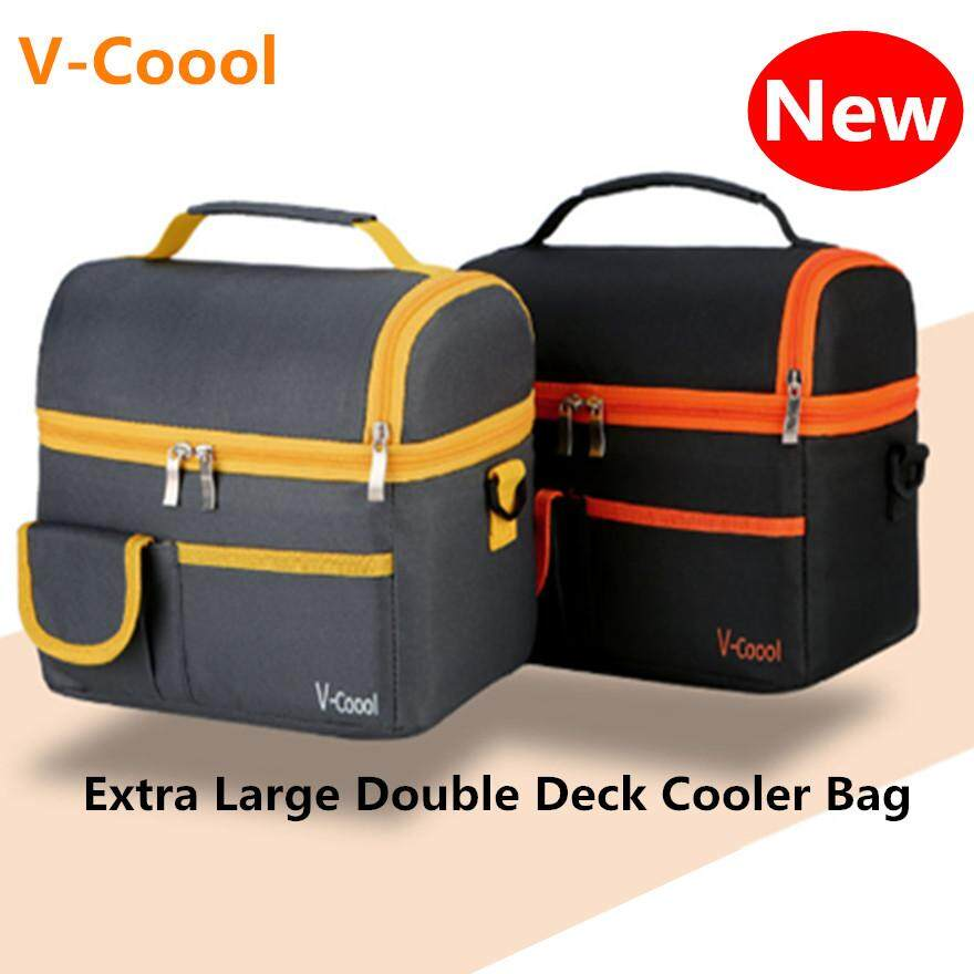 V-Coool Extra Large Double Deck Cooler Bag Stories Bag Lunch Box