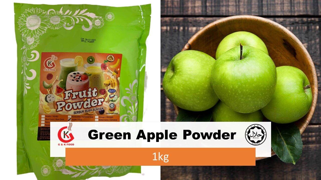 [100% JAKIM HALAL] 1kg Green Apple Powder