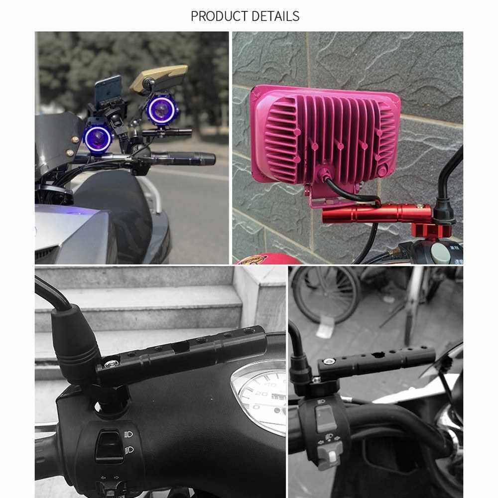 Motorcycle Multifunctional Expansion Rack Extension Rotatable Motorbike Light Expansion Bracket Phone Holder Stand (Silver)