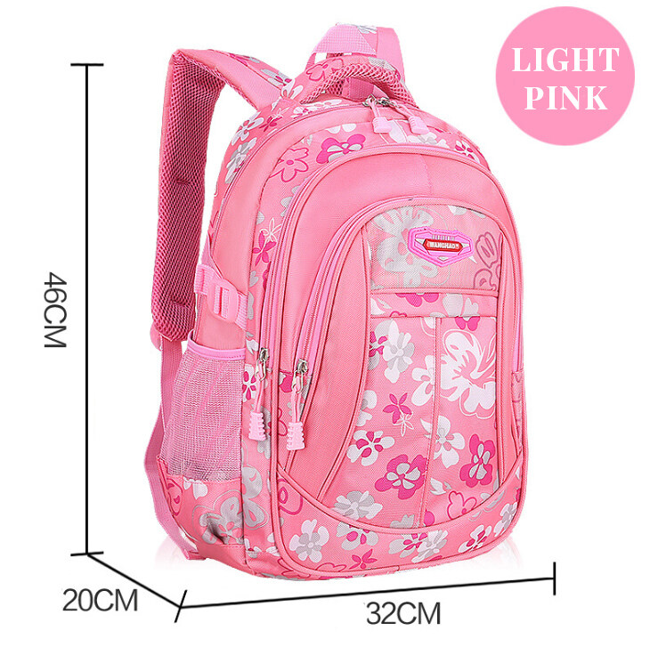 BAGGIE Floral School Bag Primary Secondary Student Girls Durable Large Capacity Backpack