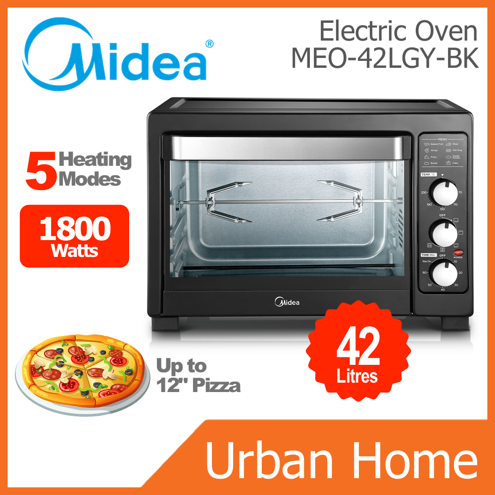 MIDEA 42L Rotisseries Convection Electric Oven (MEO-42LGY-BK/MEO42LGYBK/MEO42LGY)