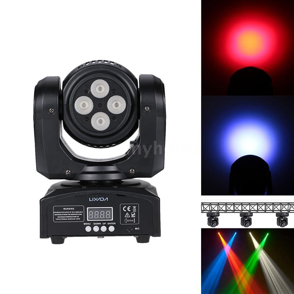 Lighting - 8LED 80W RGBW 15 / 21 Channel DMX 512 Double Sides Wash Infinite Rotating Moving Head Light - 2 / 3 / 1