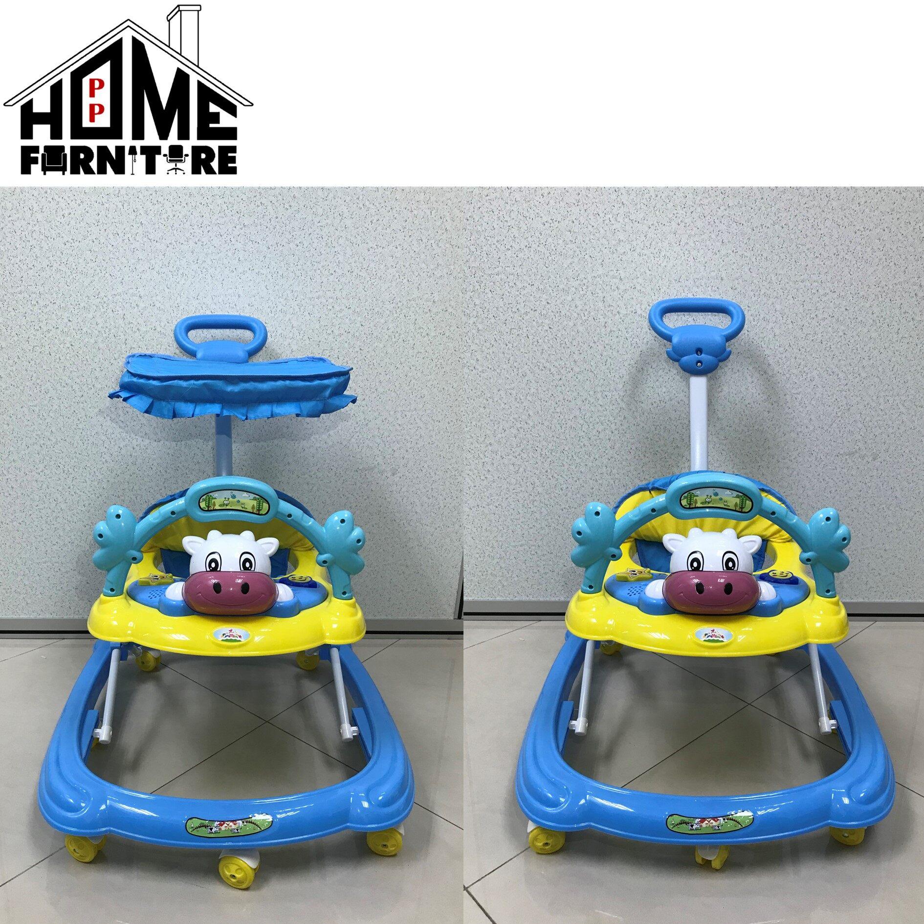 PP BABY Baby walker/ baby car/baby toddler car/ baby walk roller/Kereta bayi/ 婴儿车/婴儿滚轮 WITH Music PP HOME Kids furniture/Infant play toys/ Baby toys/ Mainan baby婴儿小孩玩具:9276