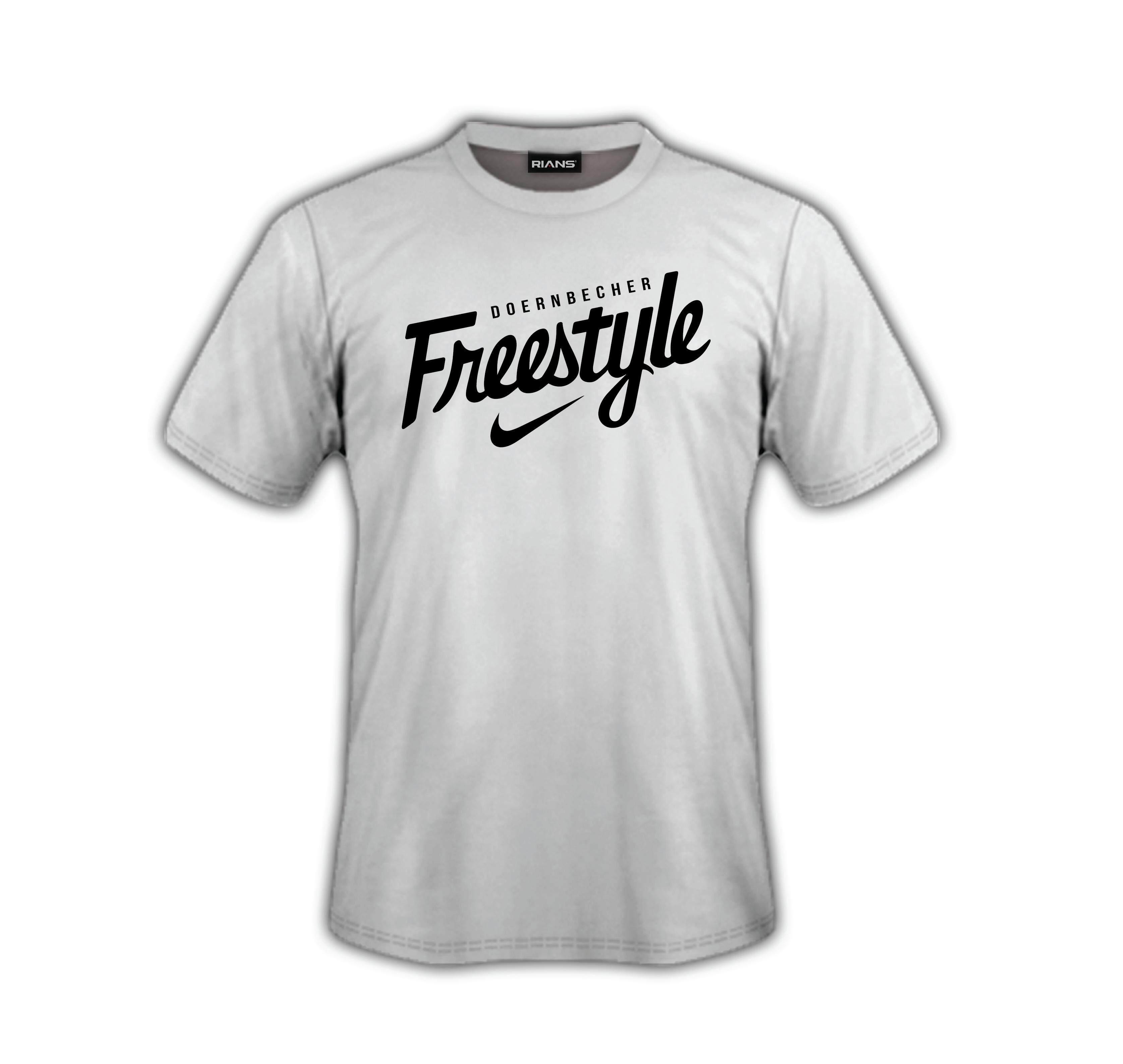 T-Shirt DOERNBECHER FREESTYLE nike 100% Cotton Baju Tshirt Black White Hitam Putih Bossku