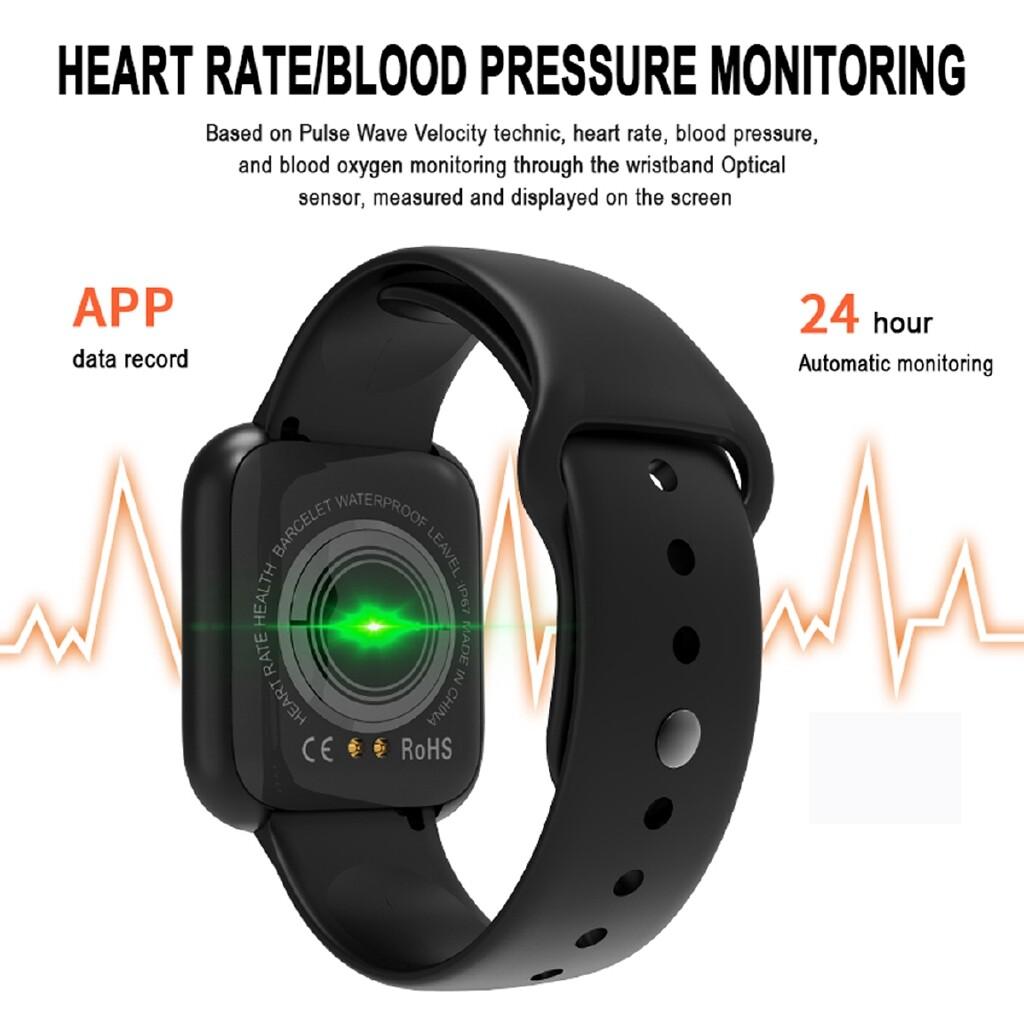 Smart Watch - 1.3'' Smart Watch Bracelet Heart Rate Blood Pressure Monitor Fitness Wristwatch - BLACK / PINK / WHITE
