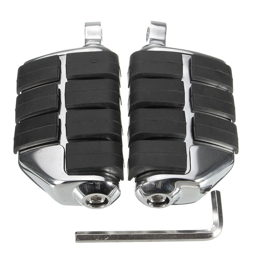 Moto Accessories - A Pair Chrome Motorcycle Front&Rear Foot Rest Pegs Pedals For Harley Davidson - Motorcycles, Parts