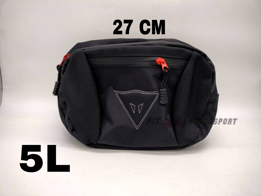 DAINESE Pouch Bag Waist Bag Riding Bag Dainese 3 Liter 5 Liter Black Color / Motor Accessories