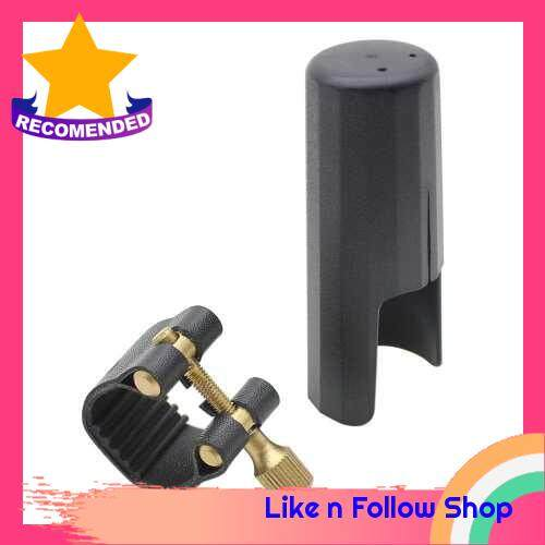 Leather Ligature Fastener with Plastic Cap for Tenor Sax Saxphone Bakelite Mouthpiece (Standard)