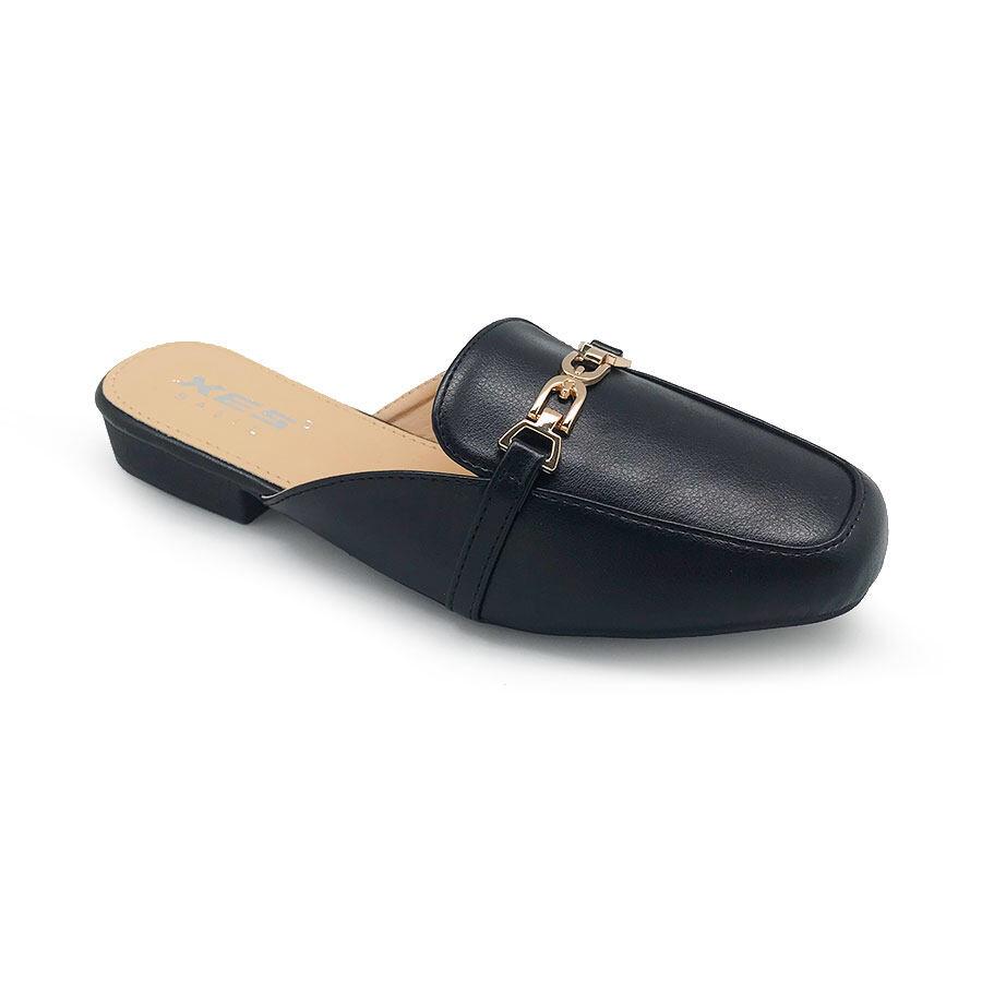 XES Ladies BSLCES05 Slip-on Flats (Khaki Black)
