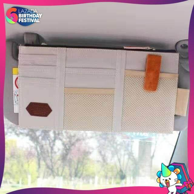 Sun Visor Storage Bag Car Card storage point pocket Documents Pouch Hanging Bag