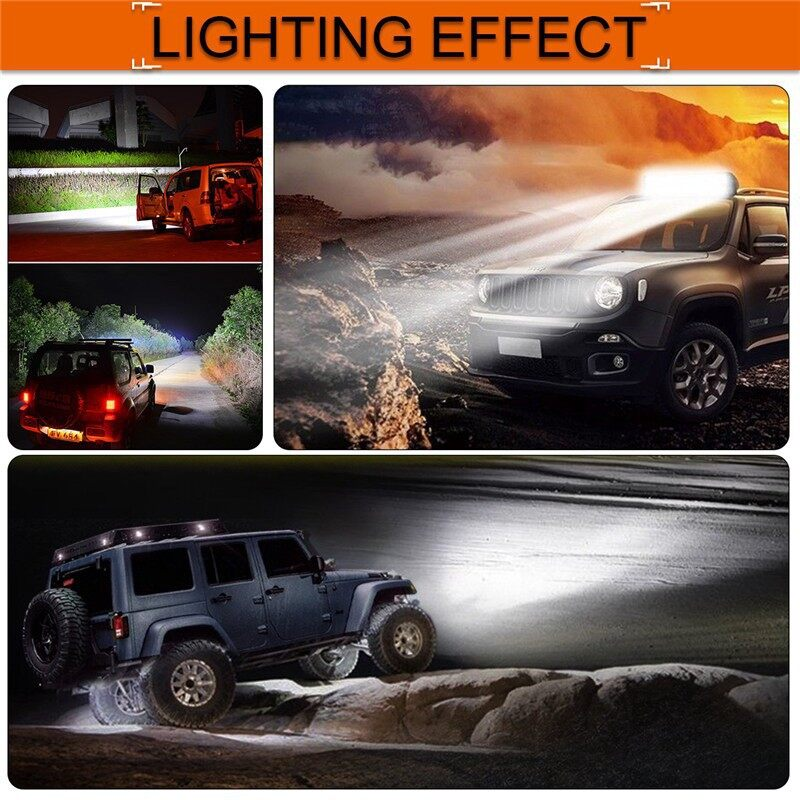 Car Lights - 18 Inch 540W 5D LED Work Light Bar Flood Spot Combo Lamp Car Truck - Replacement Parts