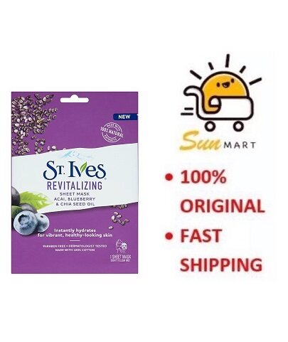 St. Ives Revitalizing Sheet Mask Acai,Blueberry & Chia Seed Oil (1's)