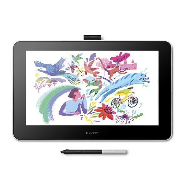 Wacom One Creative Pen Display Graphic Tablet with 1080p Resolution, 4K Pressure Pen, HDMI and USB Connection