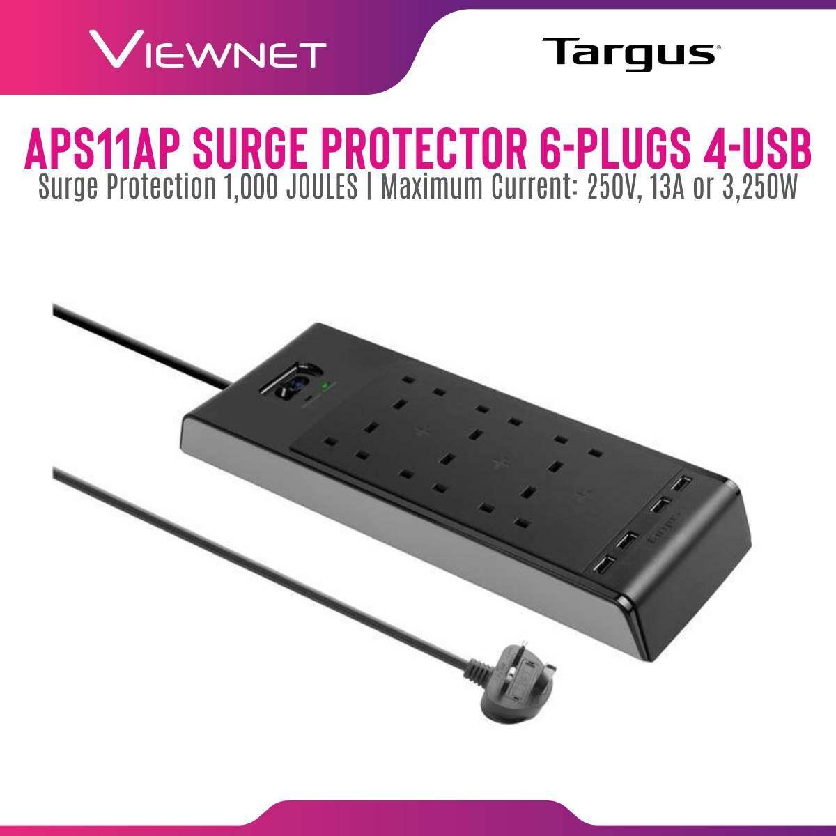 TARGUS SURGE PROTECTOR 6-PLUGS WITH 4-USB 2M (APS11AP-50)