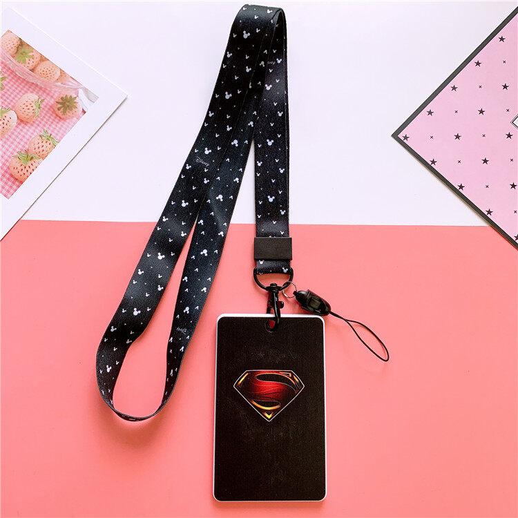 BOY CARTOON MARVEL LANYARD LIMITED EDITION SUPER MAN AVENGERS MARVEL AMERICAN HANGING NECK ACCESS CARD BUS HOLDER KEY MOBILE PHONE