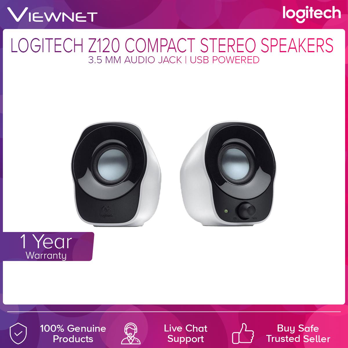 Logitech Z120 3.5MM USB Power Mini Stereo Speaker (980-000514)