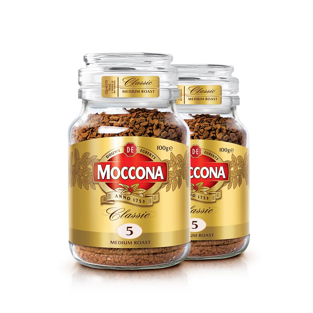 Moccona Classic Medium Roast Freeze Dried 5 Coffee 100g x 2 Jar