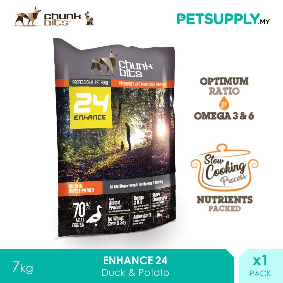 Chunk Bits 7Kg Enhance 24 Duck And Potato Dog Dry Food [PETSUPPLY.MY]