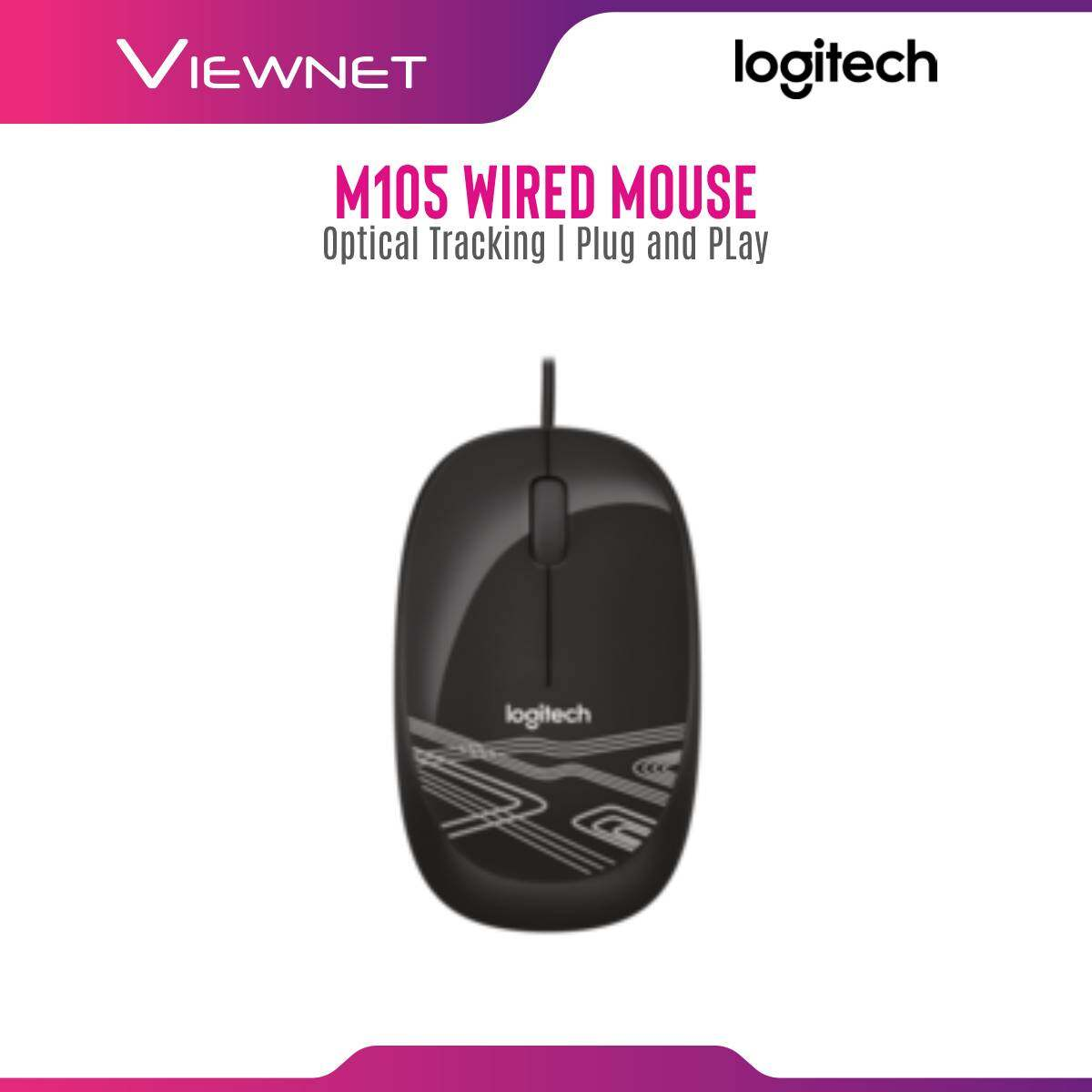 Logitech Wired M105 Black/Red/White Mouse (910-002920/910-002933/910-002932)