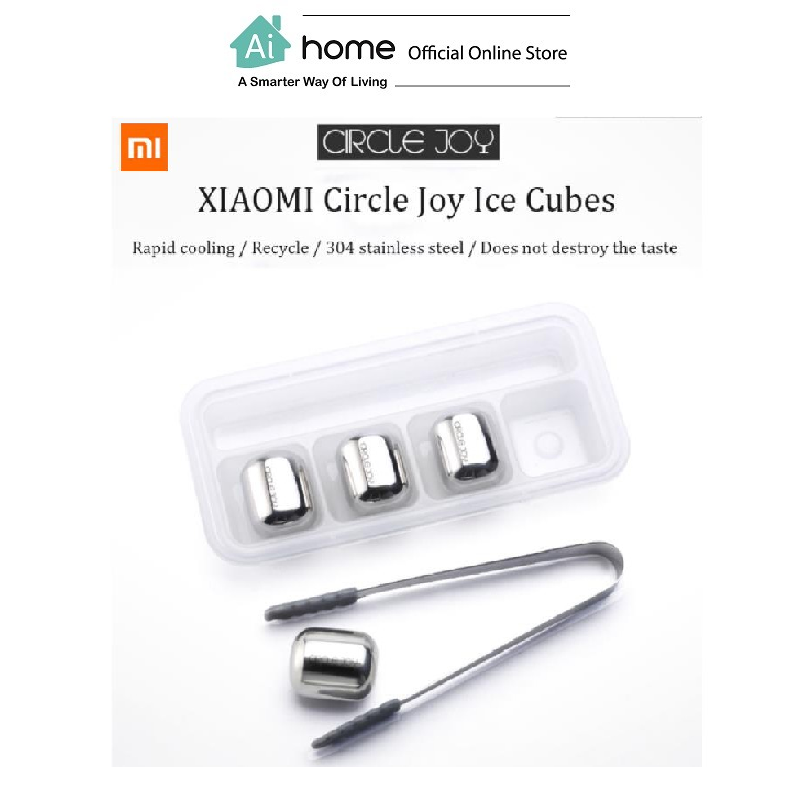 CIRCLE JOY Stainless Steel Ice Cubes (4Pcs) [ Smart Living ] [ Ai Home ]