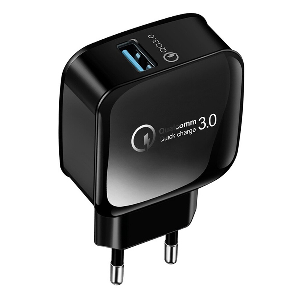 Chargers - 18W 15W QC3.0 Fast Charging USB Charger Adapter For iPh XS 11 Pro Huawei P30 Pro Mate 30 - WHITE EU / BLACK EU