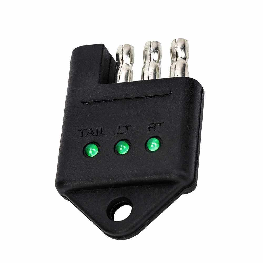 Best Selling 4 Way Trailer Tester Connector Trailer Bedrading Wiring Tester Trailer Circuit Tester Auto Accessoires (Standard)