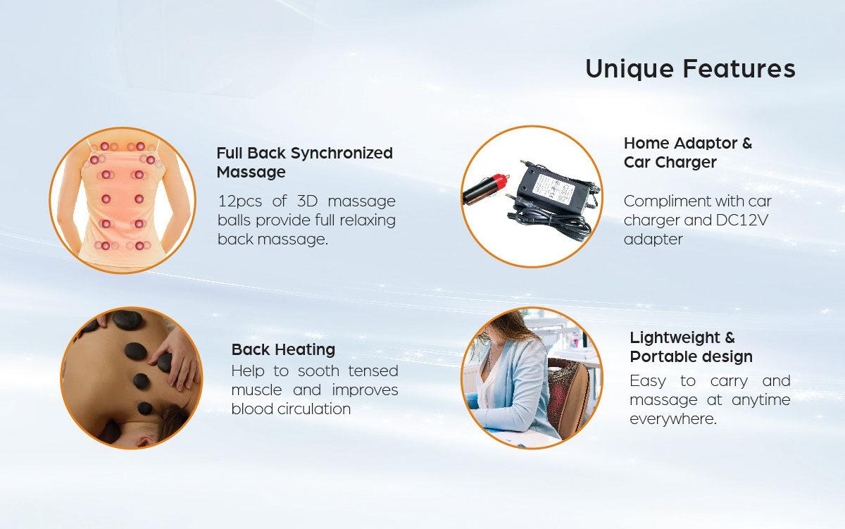 GINTELL G-Beetle EZ Foot Massager + G-Resto Portable Massage Cushion