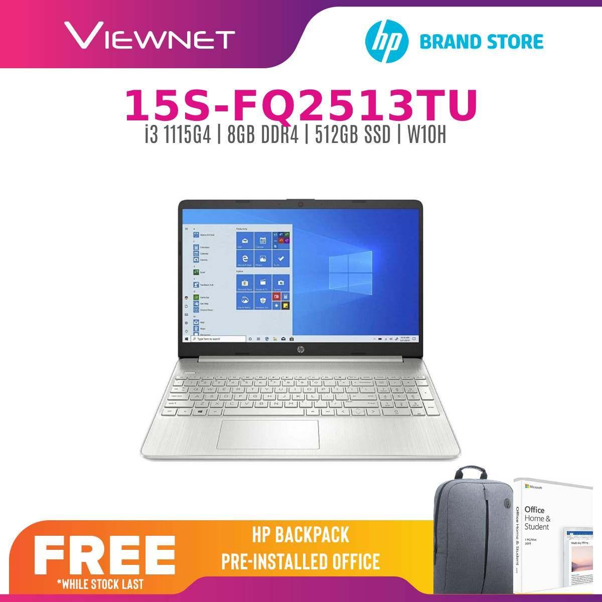 HP 15S-FQ2513TU /Intel Core I3-1115G4 /8GB DDR4 /512GB SSD /15.6