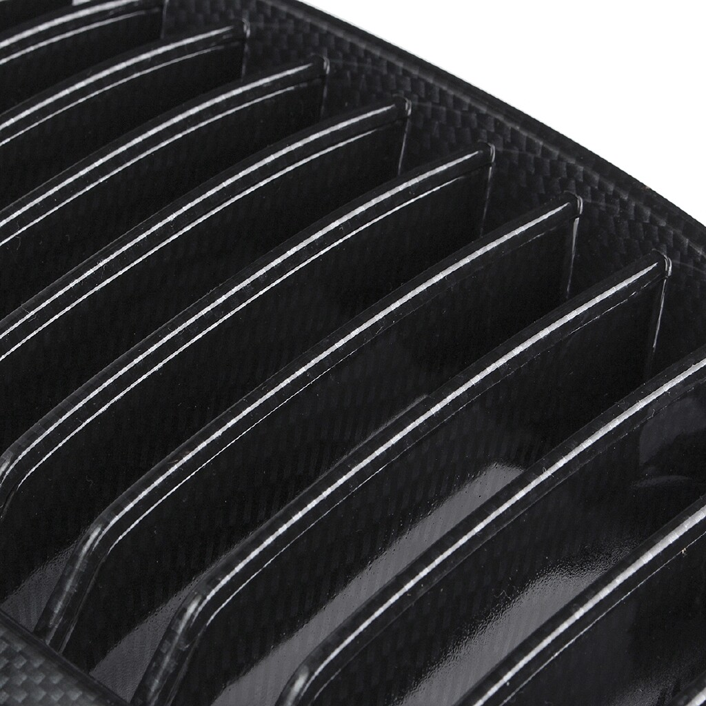 Exhaust - Carbon Fiber Look Front Kidney Grill Grille For BMW E81/E87 2004 2005 2006 2007 - Car Replacement Parts