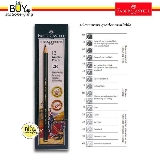 Faber Castell Graphite Pencils 9000 (12 PCS/ 1 BOX)