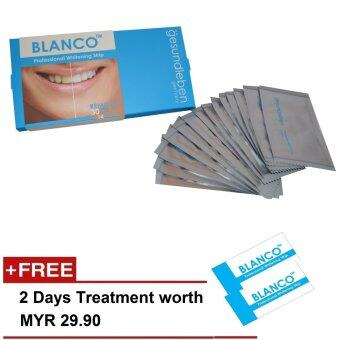 (Germany) Blanco (by Gesundleben) Professional Teeth Whitening Strip (Oral Care Product) - Full Treatment of 14 days
