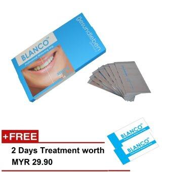 (Germany) Blanco (by Gesundleben) Professional Teeth Whitening Strip (Oral Care Product) - Half Treatment of 7 days