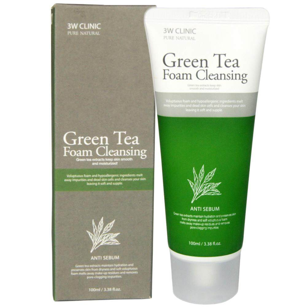 [KOREAN 3W CLINIC] Green Tea Foam Cleansing  100ml x 1